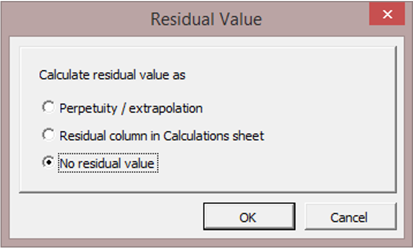 Calculate residual value