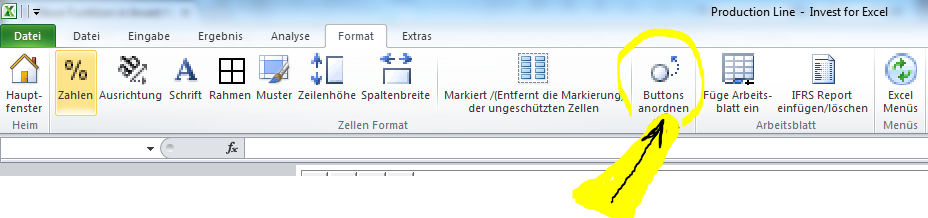 Neue Funktion in Invest for Excel® version 3.6019 vs. 3.6001 ...